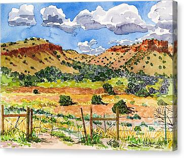 Beyond Ojo Caliente Canvas Print by Gurukirn Khalsa