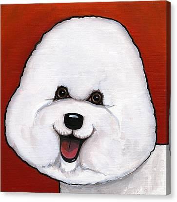 Bichon Frieze Canvas Print by Leanne Wilkes
