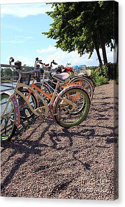 Bicycles Canvas Print by Sophie Vigneault