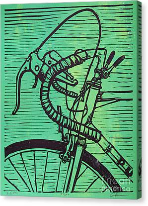 Canvas Print featuring the drawing Bike 2 by William Cauthern