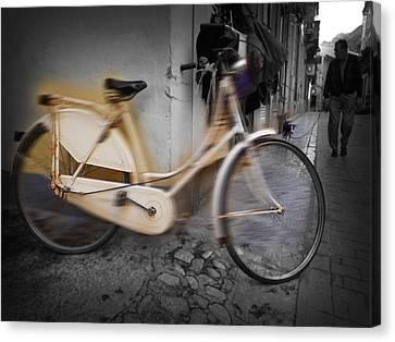 Bike Canvas Print by Charles Stuart