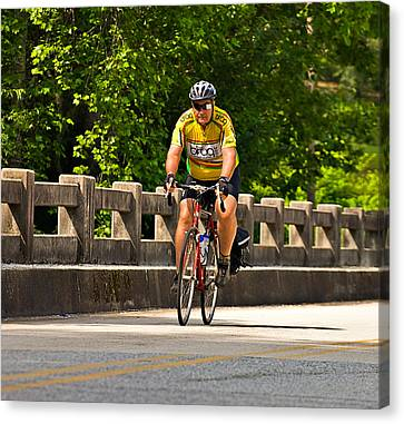 Bike Ride Across Georgia Canvas Print by Susan Leggett