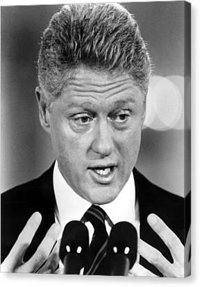 Bill Clinton Canvas Print by Everett