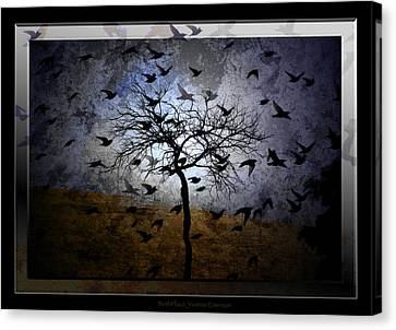 Canvas Print featuring the digital art Birthplace by Yvonne Emerson AKA RavenSoul