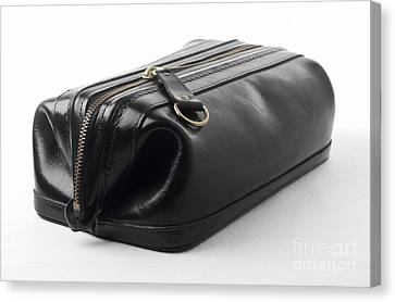 Black Leather Bag Canvas Print by Blink Images
