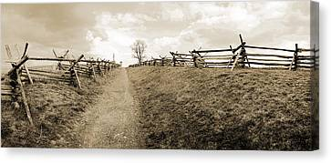 Bloody Lane Antietam Canvas Print by Jan W Faul
