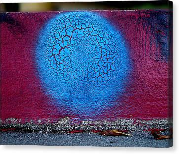 Blue Circle  Canvas Print by Ludmil Dimitrov