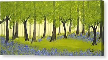 Bluebell Grove Canvas Print