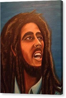 Bob Marley Canvas Print by Biren Biren