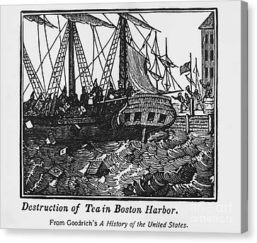 Boston Tea Party, 1773 Canvas Print by Omikron