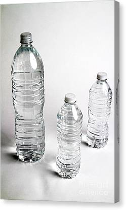 Bottled Water Canvas Print by Photo Researchers