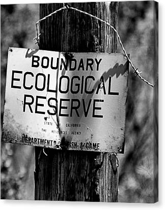 Canvas Print featuring the photograph Boundary by Bob Wall