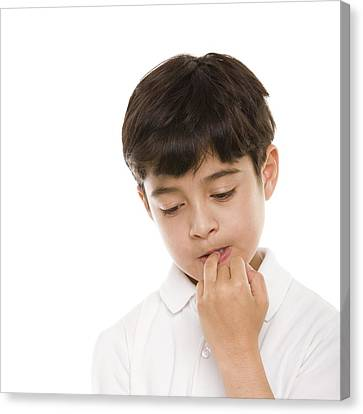 Boy Biting His Nails 1 Photograph by