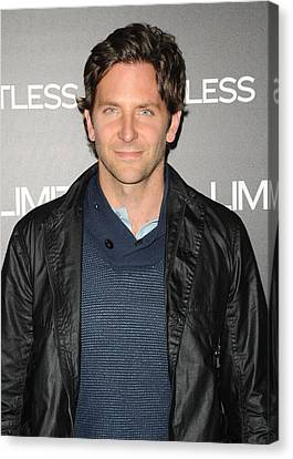 Bradley Cooper At Arrivals Canvas Print by Everett