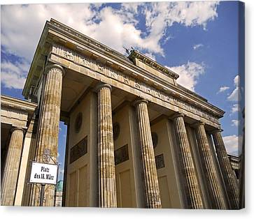 Brandenburg Gate - Berlin Canvas Print by Juergen Weiss