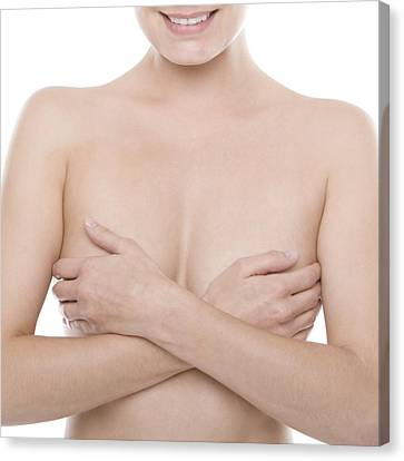 Breast Self-examination Canvas Print by