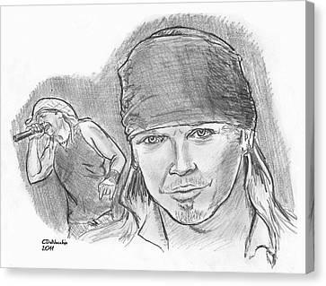 Bret Michaels Canvas Print