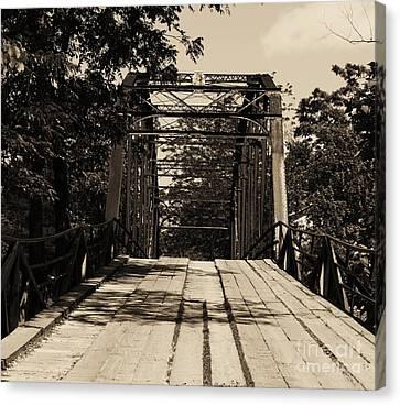 Canvas Print featuring the photograph Bridge by Julie Clements