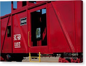 Canvas Print featuring the photograph Brilliant Vintage Rail Car by Lawrence Burry