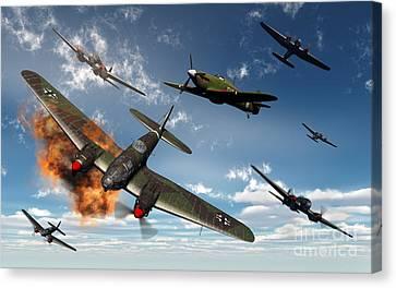 British Hawker Hurricane Aircraft Canvas Print by Mark Stevenson