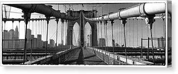 Brooklyn Bridge Canvas Print by Peter Aitchison