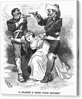 Brooks-baxter War, 1874 Canvas Print by Granger