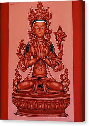 Buddha Of Compassion Canvas Print by Varvara Stylidou
