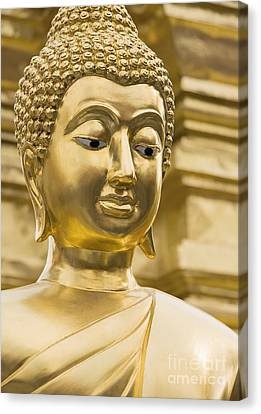 Buddha's Statue Canvas Print by Roberto Morgenthaler