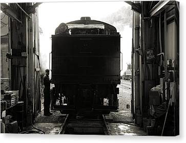 Building Up Steam Canvas Print by Bob Wall