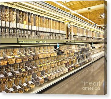 Bulk Food Bins In A Grocery Store Canvas Print