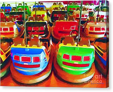 Bumper Cars Canvas Print by Jerry L Barrett