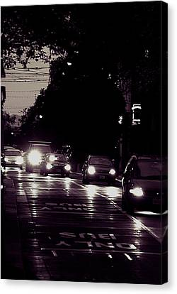 Bus Only Lane Canvas Print by Bob Wall
