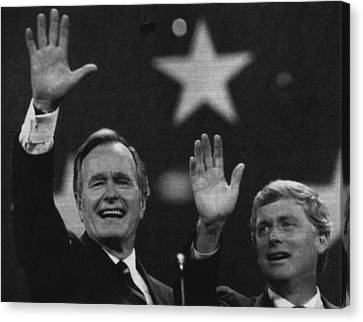 Bush Sr. Presidency. Vice President Canvas Print by Everett
