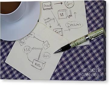Business Plan Canvas Print by Photo Researchers, Inc.