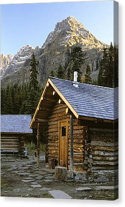 Cabin In Yoho National Park, Lake Canvas Print by Ron Watts