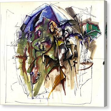 Cafe Canvas Print by Ertan Aktas