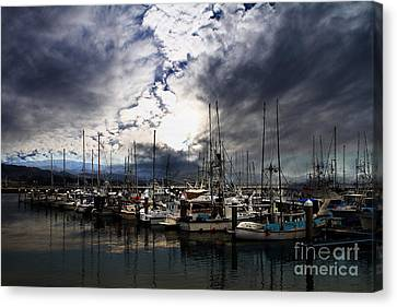 Calm Before The Storm Canvas Print by Wingsdomain Art and Photography