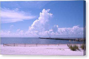 Canvas Print featuring the photograph Calming View by Brian Wright