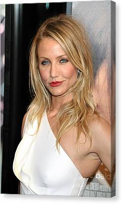 Cameron Diaz At Arrivals For My Sisters Canvas Print