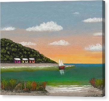 Canary Cove Canvas Print by Gordon Beck