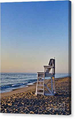 Nauset Beach Canvas Print - Cape Cod Lifeguard Stand by John Greim