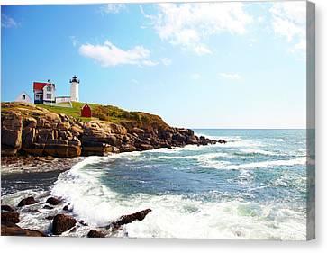 Nubble Lighthouse Canvas Print - Cape Neddick nubble Lighthouse by Thomas Northcut
