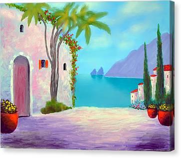 Capri Colors Canvas Print by Larry Cirigliano