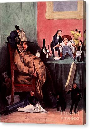 Caricature Of Hypochondriac, 1833 Canvas Print by Science Source