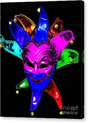 Canvas Print featuring the digital art Carnival Mask by Blair Stuart