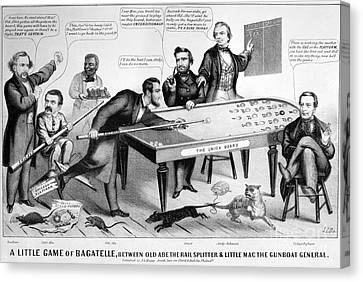 Cartoon: Election Of 1864 Canvas Print by Granger