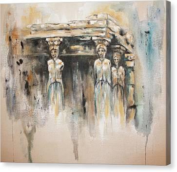 Caryatids Canvas Print by Erika Proctor