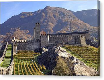 Historic Architecture Canvas Print - Castelgrande - Bellinzona by Joana Kruse