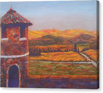 Castello Di Amorosa Canvas Print by Becky Chappell