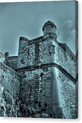 Castle Of Peniscola - Spain Canvas Print by Juergen Weiss
